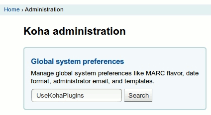 Global system preferences - Manage global system preferences like MARC flavor, date format, administrator email, and templates.