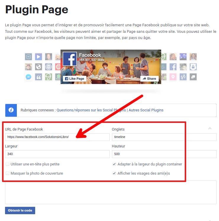 formulaire de création de fil d'actualité sur la page de développeur Facebook