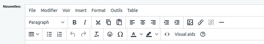 interface de la version Koha 19.05 et plus sans bouton HTML