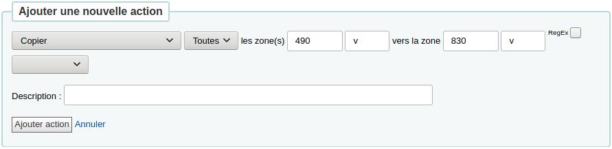 Copier toutes les zones 490 v vers 830 v