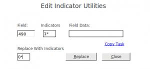 Edit Indicator Utilities avec les options décrites ci-dessus