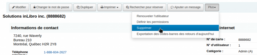 Bouton Plus - Supprimer