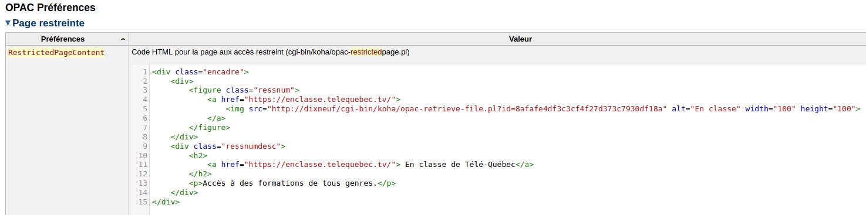 code HTML d'ajout de bouton d'accès à une ressources. Partie 1:  lien entre image du bouton et la ressource. Partie 2: texte du lien si l'image n'affiche pas.